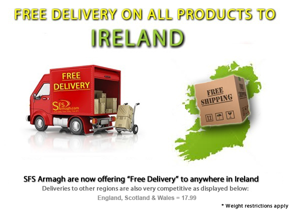 Free Delivery to Ireland